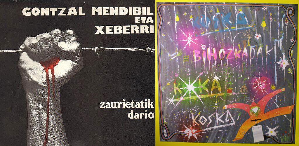 "Portadas de los discos ""Zaurietatik Dario"" y ""Bihozkadak"""