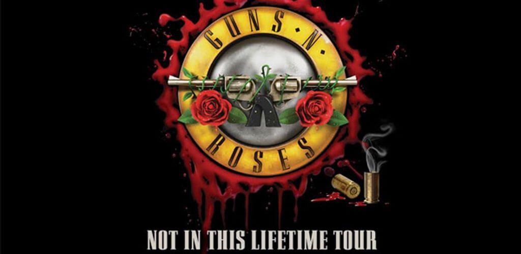 Cartel de la nueva gira de Guns N' Roses