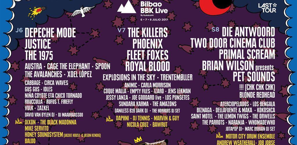 Cartel del Bilbao BBK Live 2017
